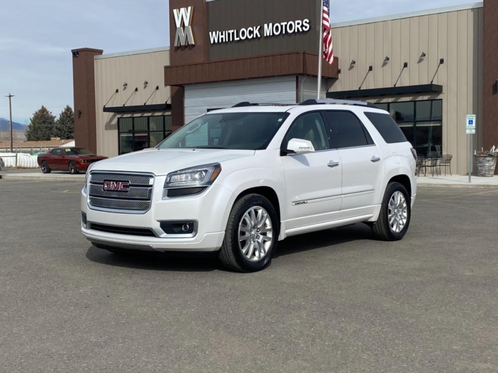 2016 White Frost Tricoat GMC Acadia Denali (1GKKVTKD4GJ) with an 3.6L V6 SIDI engine, Automatic transmission, located at 2825 Big Horn Ave, Cody, WY, 82414, (307) 587-5776, 44.533447, -109.034790 - Photo #0