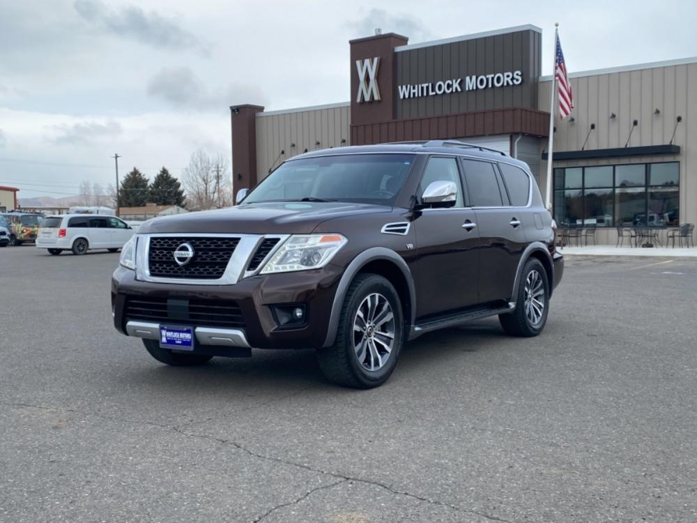2017 Mocha Almond /Charcoal Nissan Armada SL (JN8AY2NC1H9) with an 5.6L V8 DOHC 32V Endurance engine, Automatic transmission, located at 2825 Big Horn Ave, Cody, WY, 82414, (307) 587-5776, 44.533447, -109.034790 - Photo #0